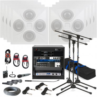 Image That Represents The components Of Home Theatre Systems In Churches